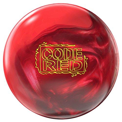 Storm Code Red High Performance Bowling-Ball Bowling-Kugel mit viel Haken Potenzial Premier Linie mit EMAX Reiniger und Mikrofaserhandtuch Größe 15 LBS (Bowling-taschen 2 Ball Roller Storm)