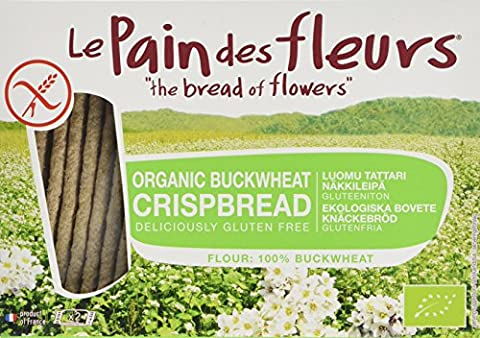 Le Pain Des Fleurs Organic Buckwheat Crispbread 125 g (Pack of 6)