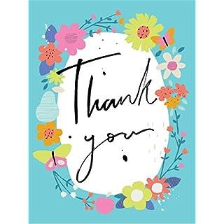 Rachel Ellen Designs - Mini Notecards - Thank You - Floral Border (Pack of 5)
