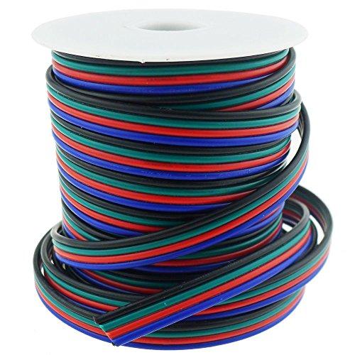 LTRGBW 40FT 18 Gauge RGB LED Streifen-Verlängerungskabel 18 AWG 4 Pin 4 Farbständer Drahtleiter