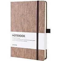 Bullet Journal / Cuaderno Punteados - Dotted Notebook de Cuadrícula de Puntos de Tapa de Corcho Natural Ecológico Cuaderno- Papel Grueso de Primera Calidad - Cuaderno Encuadernado A5 (5x8 in)
