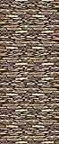 Queence | Premium-Tapete | selbstklebend | Fototapete XXL | Vinylfolie| Tapetenfolie| Wandtapete | 'Steinwand' | Größe: 90x250 cm
