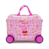 SF-World Cartoon Character Ride on Suitcase Comes with Free Cartoon Stickers (Peppa Pig)