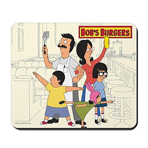CafePress-Bob 's Burger Hero Familie-rutschfeste Gummi Mauspad, Gaming Maus Pad