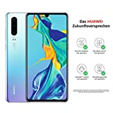 HUAWEI P30 Dual-SIM Smartphone Bundle (6,47 Zoll, 128 GB ROM, 6 GB RAM, Android 9.0) Breathing Crystal + USB-Adapter [Exklusiv bei Amazon] - DE Version