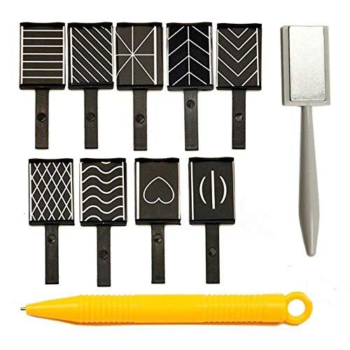 11pcs / set Nail Art outil aimant stylo pour bricolage magique 3d yeux de chats magnétiques polonais gel uv polonais oeil de chat colle outil