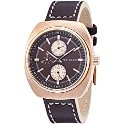 Ted Baker Men's TE1130 Sport Analog Display Japanese Quartz Brown Watch
