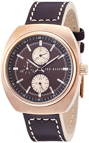 Ted Baker Men's TE1130 Sport Analog Display Japanese Quartz Brown Watch