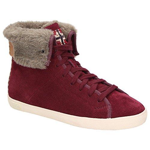 Napapijri Asta 0774760-051 Mädchen Damen Leder-Winterschuhe Sneaker Warmfutter Weinrot Wine Red