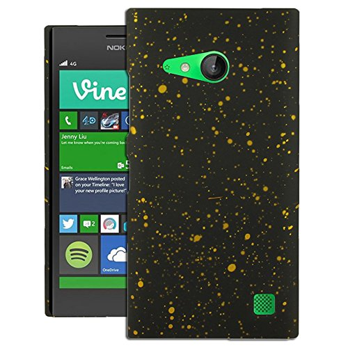 Heartly Night Sky Glitter Star 3D Printed Design Retro Color Armor Hard Bumper Back Case Cover For Nokia Lumia 730 735 - Sweet Yellow  available at amazon for Rs.199