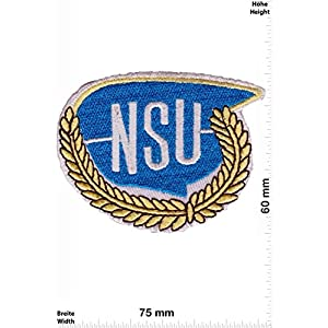 Patch - NSU - blau/gold - Auto - Motorsport - Racing Car Team - Patches - Aufnäher Embleme Bügelbild Aufbügler