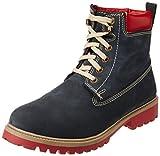 Woodland Men's Dark Navy Leather Boots - 8 UK/India (42 EU)