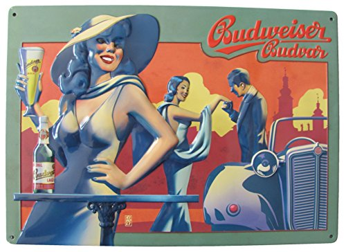 budweiser-birra-soggetto-signora-con-cappello-citta-silhouette-auto-mobil-verde-budvar-4