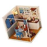 Baoblaze 1:24 Scale Puppenhaus Küche mit Möbel Set