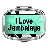 Rectangle Pill Case Trinket Gift Box I Love Heart Food F-J - Jambalaya