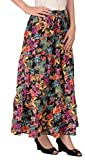 Cotton Breeze Women's Long Skirt (FP362_Multi-Coloured_Free Size)