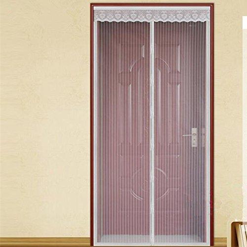 Fuya magnetisch Sheer Tür Vorhang Tür Moskitonetz Magnet Streifen massiv Vorhang Mesh, Textil, weiß, 100cm X 210cm