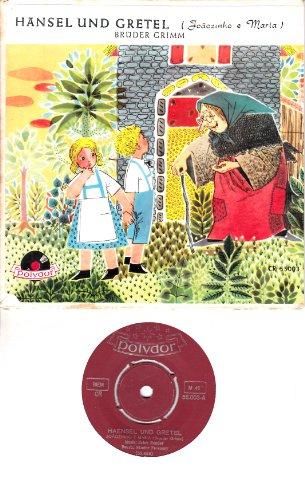 Brasilianische Single (HÄNSEL UND GRETEL (Joaozinho e Maria) / BRÜDER GRIMM / Märchen Schallplatte für Kinder / Klapp-Bildhülle / Polydor # CR 55.003 / Brasilianische Pressung / 7