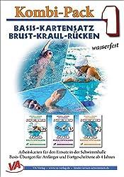 Basis-Kartensatz Brust-Kraul-Rücken, wasserfest: Kombi-Pack 1 (Lehrer-/Trainer-Kartensatz laminiert / Arbeitskarten für den Schwimmunterricht)
