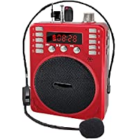 SaleOn™ Rechargeable Multimedia Speaker with Wired Microphone Loudspeaker Headset for Teacher Guider Trainer and FM…