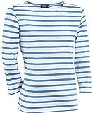 Saint James Huitriere III - Streifen Shirt - Bretagne-Shirts Neige bleu Faience (46 (T48))