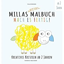 MILLAS KRITZEL MALBUCH - Mach es Fertig!: Kreatives kritzeln ab 2 Jahren (Malbuch Kinder)