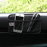 happyle Autotelefon Tasche Auto Taschen Aufbewahrungstasche Paste Typ Nutzfahrzeug Netzbeutel Aufbewahrungsbox Autozubehör(Schwarz)