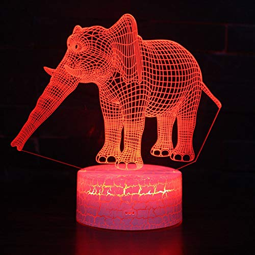 3D Led Lamparas Tischlampe Mit Bewegungsmelder 7 Farbwechsel Elefanten Nachtlicht Party Tier Beleuchtung Dekor Geschenk