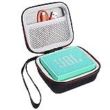 Shucase Tasche für JBL Go Ultra/JBLGO2BLK GO2 Tragbarer Bluetooth Lautsprecher Tasche Hülle, Netztasche für Ladegeräte und Kabel(Schwarz)