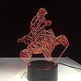 DMYDMY 3D En Trois Dimensions Diaporama Conduit Nuit Lumière Quatre Roues Vélo De Montagne 7 Lumières De Couleur Décoration De La Maison Visible Lumière Nuit Lumière Une Led Dynamique
