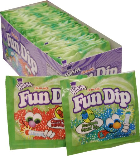 Wonka Fun Dip Razz Apple Magic Dip 48 Envelopes (Lik-m-aid)