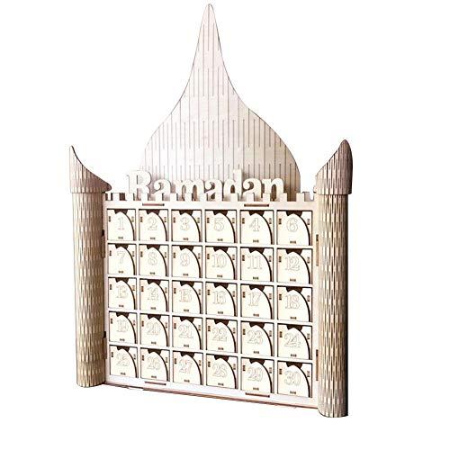 Islam Eid Mubarak Palace Countdown Holz Tischdekoration Eid Mubarak Geschenk