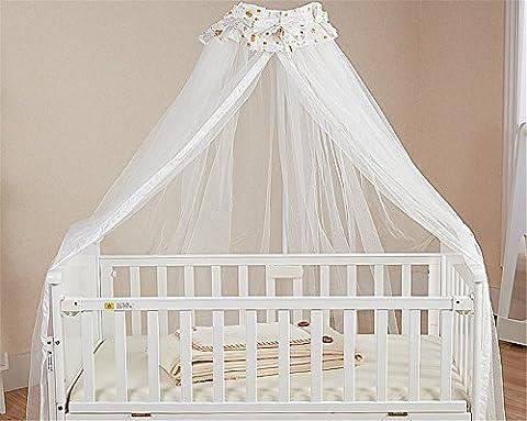 Hollwald Moustiquaire , Ciel de lit de Bébé avec support,