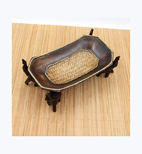 Woven Storage Tray Startseite Oval Obstteller Hotel Clubhaus Nut Candy Melon Tablett -