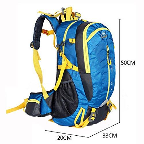 40L Outdoor Rucksack Freizeit Bergsteigen Tasche,Black Red