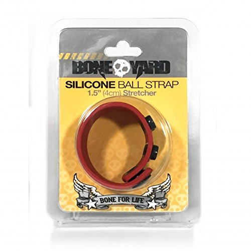 Boneyard Ball Strap, One Size, Red