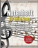 Notenheft für deine Songs: 150 Seiten Blanko Notenpapier zum Komponieren und Aufschreiben eigener Lieder. Ohne Notenschlüssel