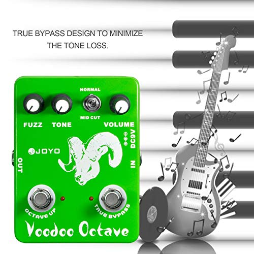 Qewmsg JF-12 Voodoo Octave Fuzz Effect Guitar Pedal Electric Bass Dynamic Compression