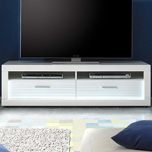 Wohnwand & Sideboard Hochglanz weiß Vitrine Anbauwand Schrankwand Fernsehschrank - 3