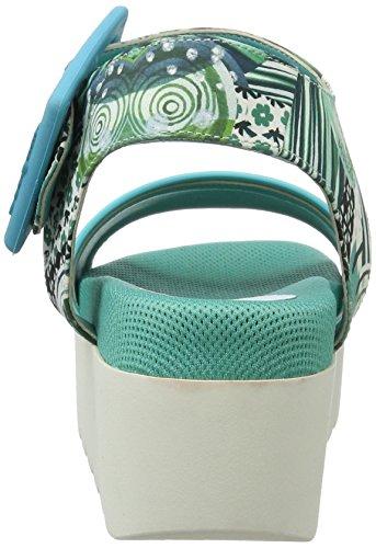 Desigual Damen Maui 3 Keil Sandalette Blau