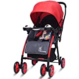 R For Rabbit Poppins - An Ideal Pram - Baby Stroller For Moms (Red Grey)