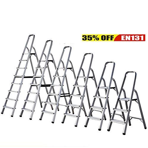 Escalera plegable de 3 4 5 6 7 8 peldaños, antideslizante, peldaño de seguridad de aluminio