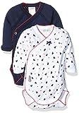 Absorba Underwear Baby-Mädchen Body Indigo, 2er Pack, Blau (Matelot 49), 56 (Herstellergröße: 1M)
