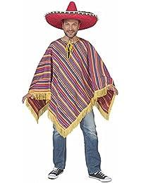 Mexikaner Alechandro Kostüm Poncho - Toll zu Mexiko Mottoparty und Fasching