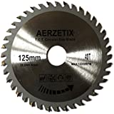 AERZETIX - Disque scie à bois 125/22,2mm T40 40 dents pour meuleuse tronçonneuse disqueuse