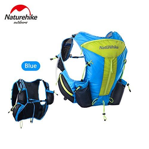 Naturhike leichte Damen Herren Marathon Rucksack Wandern Taktische Packs Laufende Tasche Running Bag 12L Blue