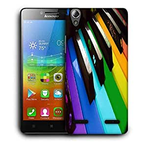 Snoogg Colorful Piano Keyboard Music Printed Protective Phone Back Case Cover For Lenovo A6000