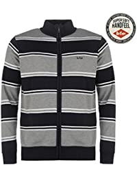 Lee Cooper Hommes Tricote Zip Top Sweater Top Haut Decontracte Manche Longue