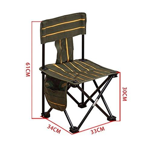 GFL Chaises Camping Chaise Pliante pêche en Plein air Portable Plage Chaise arrière Ultra-léger (A++) (Taille : 33 * 34 * 61cm)