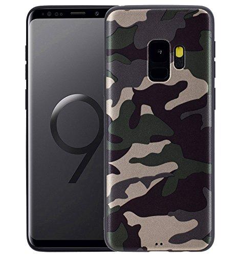 Favory Camouflage Design Silikon Case Premium TPU Hülle für Samsung Galaxy S9 Tasche Schutzhülle Cover Shop